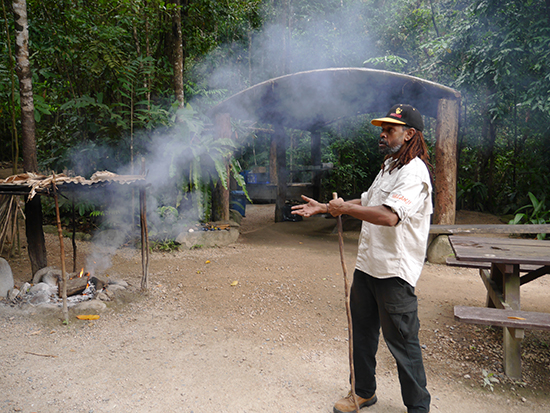 Smoking ceremony at Mossman Gorge (Image: Alexandra Gregg)