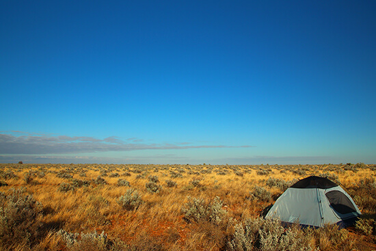 Camping in Nullarbor Plains, South Australia