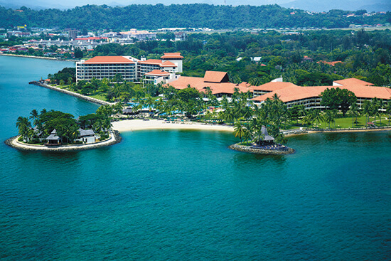 Shangri-La Tanjung Aru from above