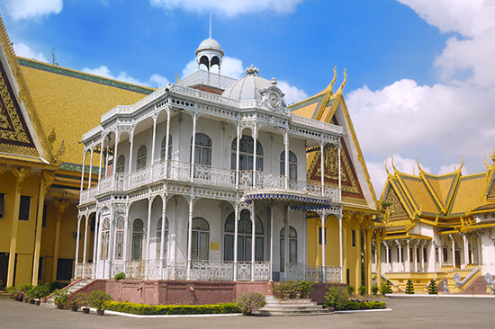 French architecture at the Villa of Napoleon III in Phnom Penh