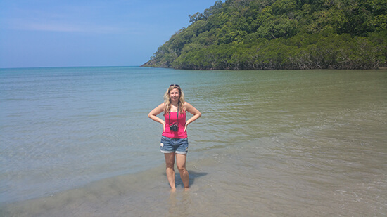 Me at Cape Tribulation Beach (Image: Alexandra Gregg)