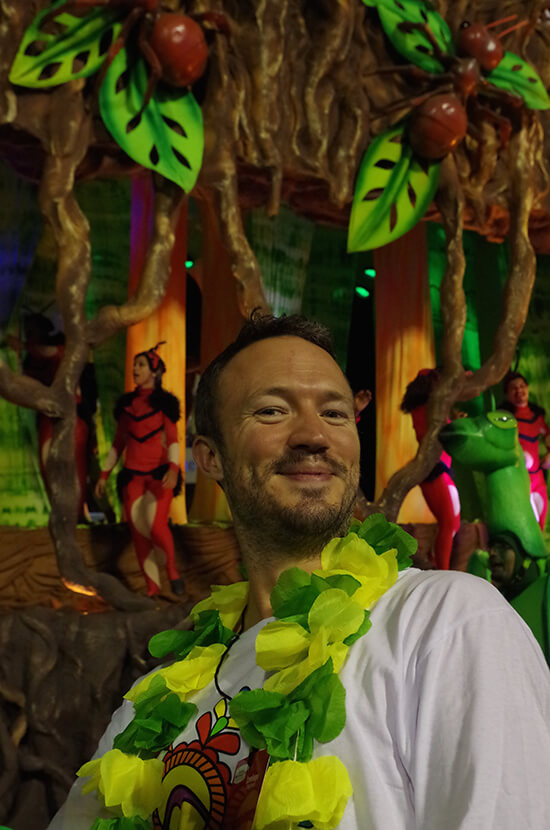 Samba Steel! Chris at Rio Carnival (Image: Chris Steel)
