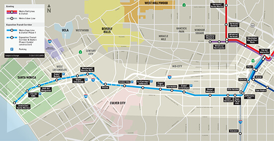CLICK TO ENLARGE. The new Expo Line route (Image: Expo Line)