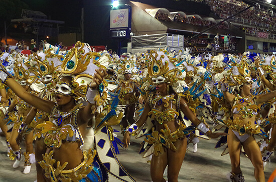 Carnival dancers at the Sambadrome (Image: Chris Steel)