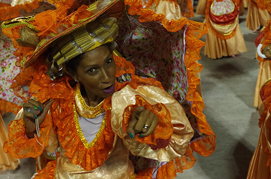 Rio Carnival performer (Image: Chris Steel)