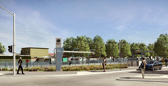 The new Westwood/Ranch Park Station (Image: Expo Line)