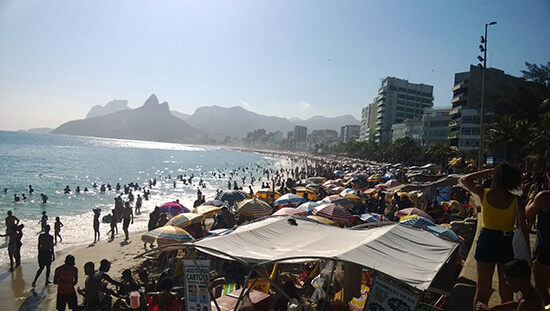 Ipanema Beach in the midday sun (Image: Chris Steel)