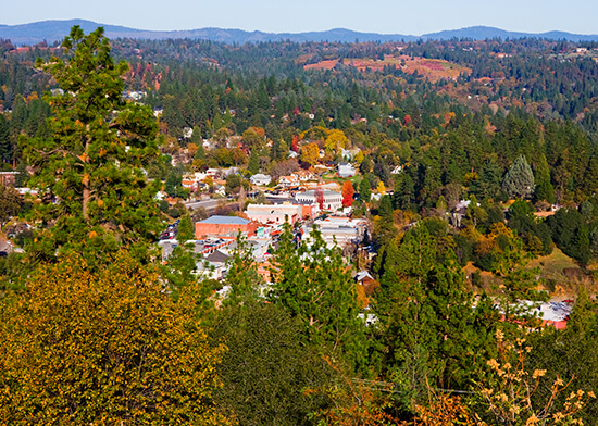 Placerville in the autumn