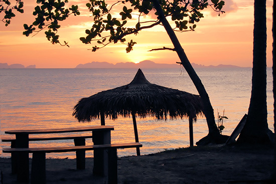 Sunset on Koh Jum beach