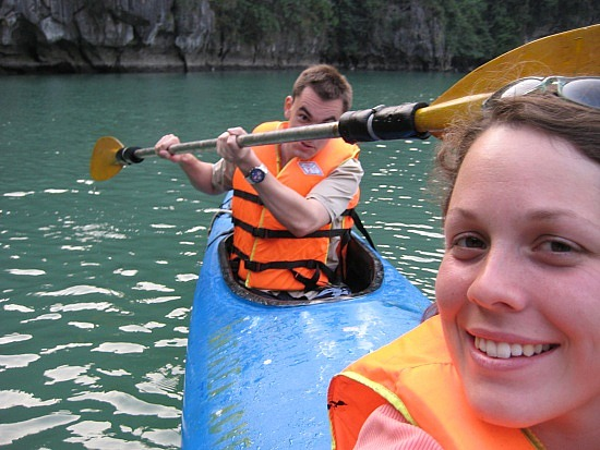 Kayaking in the lagoon (image: Angela Griffin)