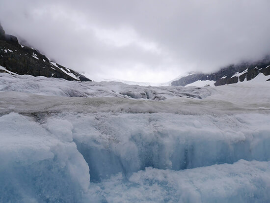 The Athabasca Glacier at Columbia Icefields  (Image: Alexandra Gregg)