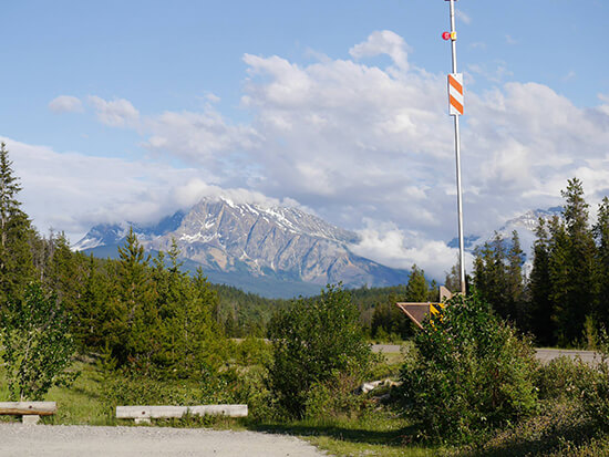 The start of the Icefields Parkway, Jasper