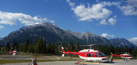 RS helicopter Banff - shutterstock_115722670
