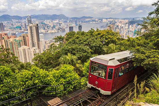 The Victoria Peak tram