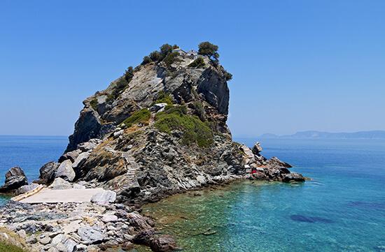 The Agios Ioannis Prodromos Monastery in Skopelos, Greece