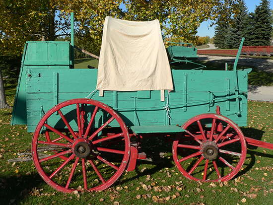 A chuck wagon at the Heritage Park