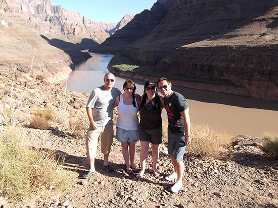 James at the bottom of the Grand Canyon with friends