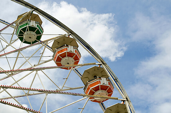 The Ferris wheel at Calgary Stampede