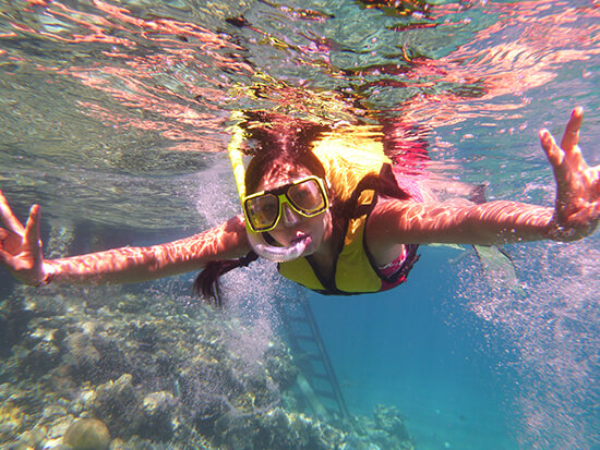 Snorkelling at the Great Barrier Reef (Image: Michelle Man)