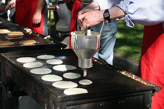 Breakfast pancakes at Calgary Stampede
