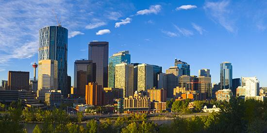 Sunny Calgary skyline