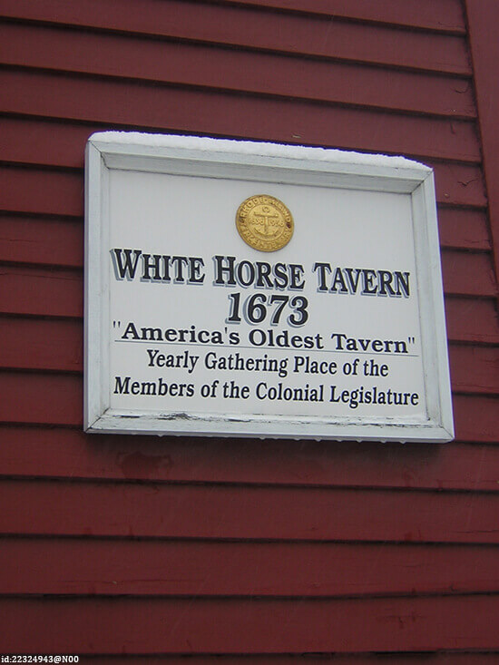 Sign outside the White Horse Tavern