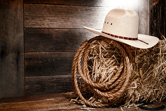 A white cowboy hat – perfect for the Calgary Stampede