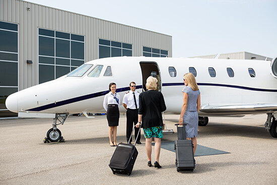 RS private jet and terminal - shutterstock_194238710