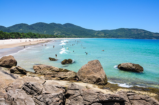 Lopes Mendes beach on Isla Grande, Brazil