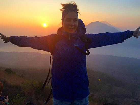 Sunrise volcano hike in Bali (Image: Clara Ramsdale)