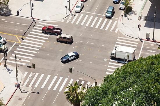 Crossroads in LA, USA