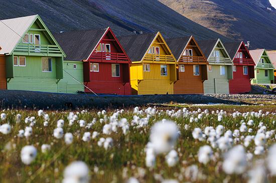 Longyearbyen, Svalbard, in summer