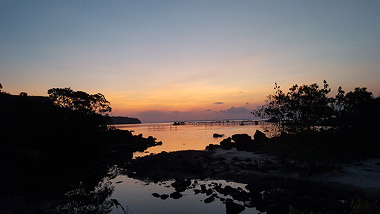 Sunset at Koh Rong Samloem  (Image: Helen Winter)