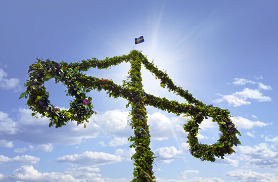 A Swedish maypole