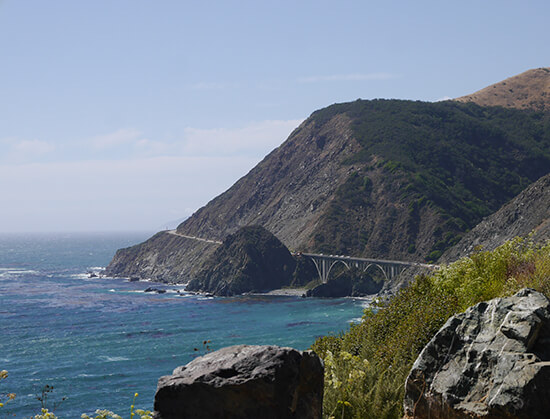 Looking back at Bixby Bridge (image: Alexandra Gregg)