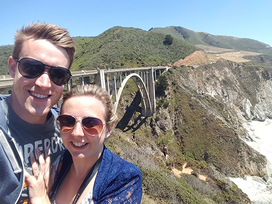 Brad and Alex at Bixby Bridge (image: Alexandra Gregg)