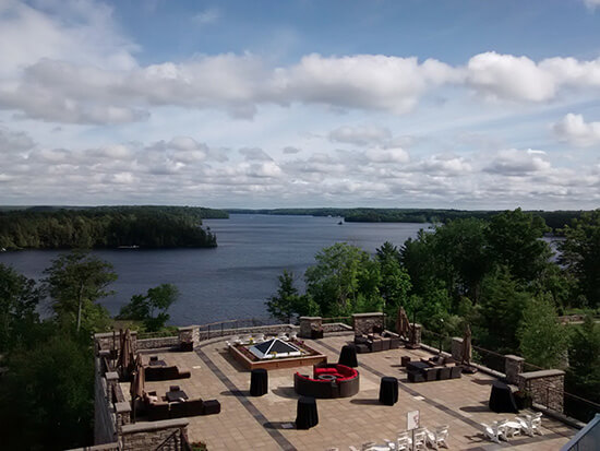 Lake Rousseau viewed from the JW Marriott The Rousseau Muskoka lake Resort & Spa (image: Angela Griffin)