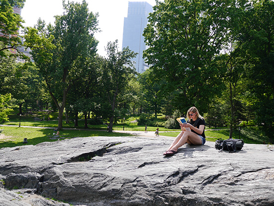 Map-reading in Central Park (Image: Alexandra Gregg)
