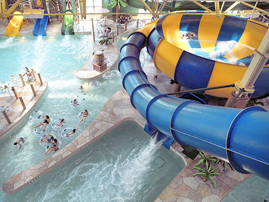Vortex water slide, Great Wolf Lodge, Canada
