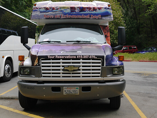 Our Extranomical bus (image: Alexandra Gregg)
