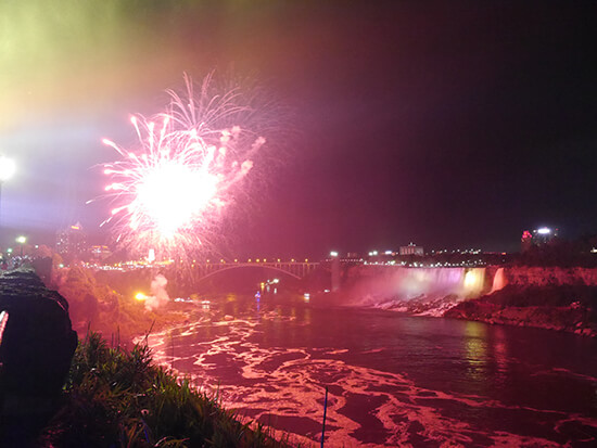 Fireworks over America Falls on Memorial Day (image: Alexandra Gregg)