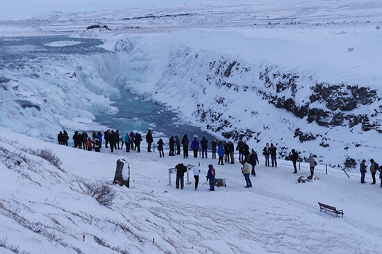 Gullfoss in the heart of winter (image: Lauren Burvill)