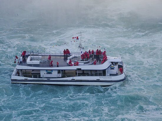 The Hornblower Cruise, engulfed by mist (image: Alexandra Gregg)