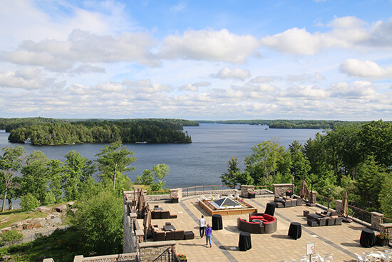 View of Lake Rousseau from the JW Marriott Rosseau Muskoka Resort & Spa (image: Angela Griffin)