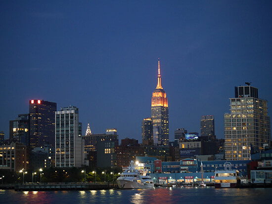 NYC at night, from our Harbour Lights Cruise (Image: Alexandra Gregg)