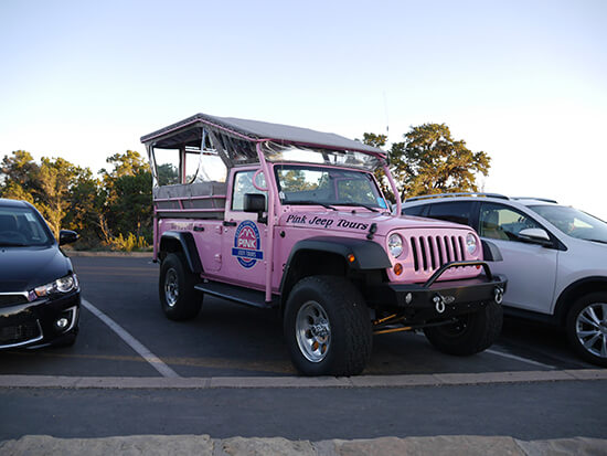 Our Pink Jeep (Image: Alexandra Gregg)