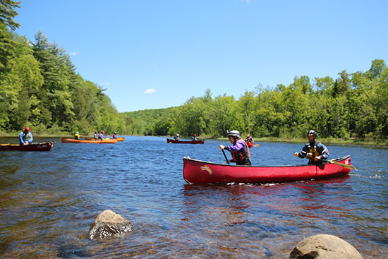 Canoeing the Madawaska River (image: Angela Griffin)