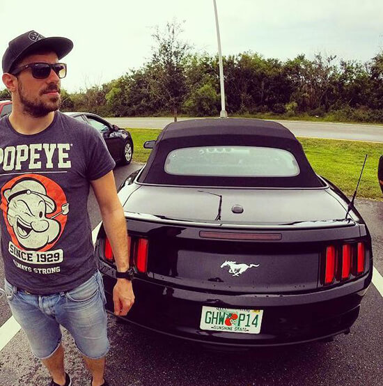 Mike on a Florida road trip (Image: Mike Archer)
