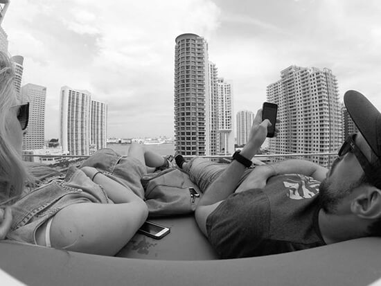Mike on a rooftop bar in Miami (Image: Mike Archer)