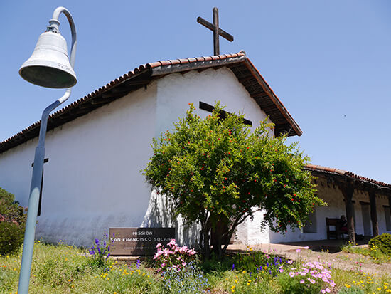 The San Francisco Mission in Sonoma (image: Alexandra Gregg)